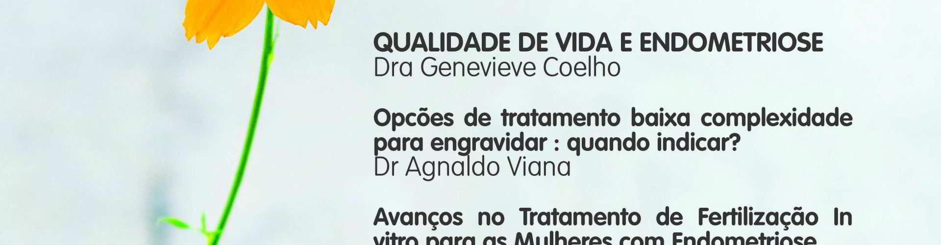 Cartaz com programação completa da palestra sobre endometriose realizada 9/4 em Salvador
