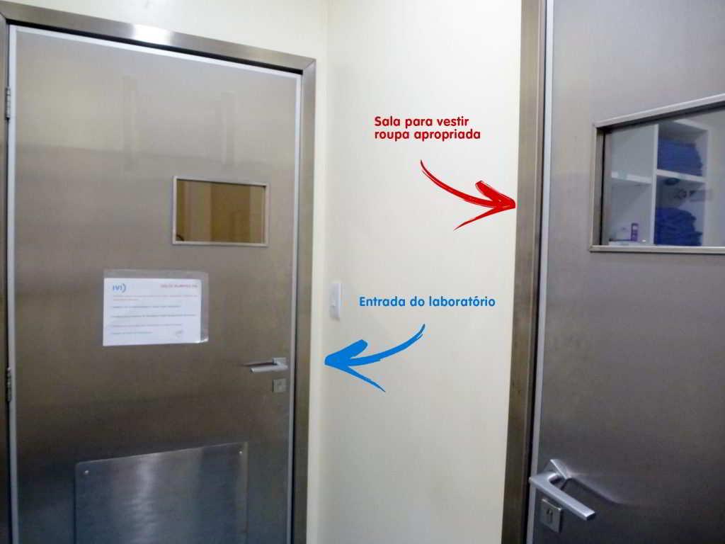 ante sala para o laboratório de embriologia