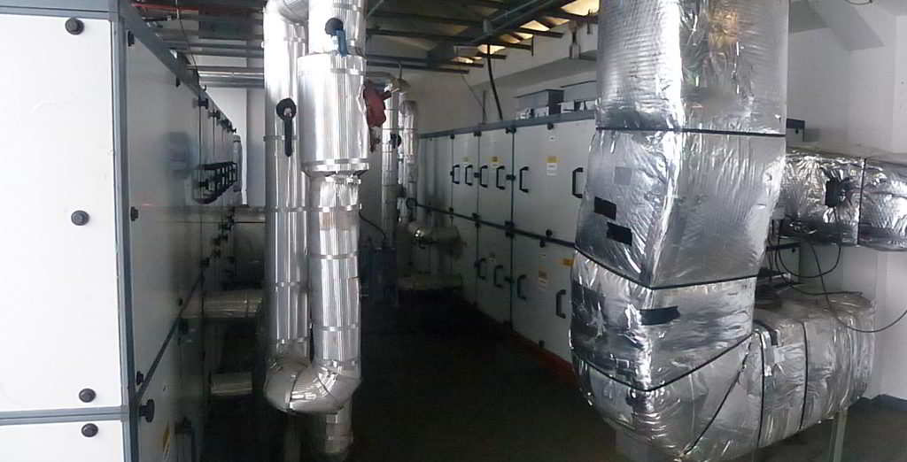 sistema de ar condicionado do laboratório de embriologia do IVI Salvador