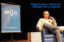 Foto de Jordan Campos durante Diálogos com a Cegonha