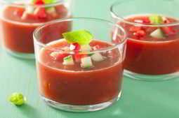 gaspacho, um item fundamental da dieta mediterrânea sem carboidrato