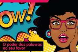 Ilustração de mulher assombrada com o poder das palavras